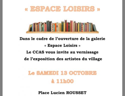 Inauguration de l'Espace Loisirs