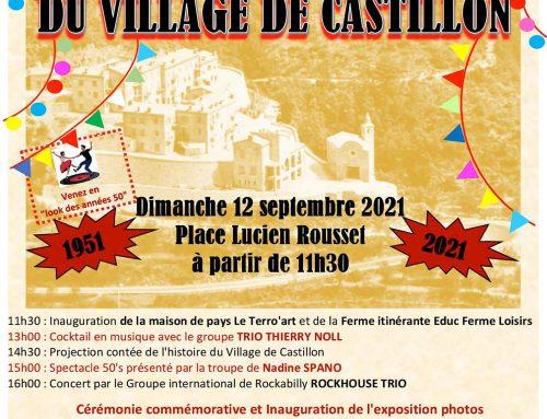 70ème Anniversaire du Village de Castillon – Dimanche 12 Septembre 2021