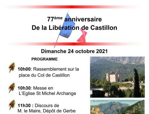 77ème anniversaire de la Libération de Castillon